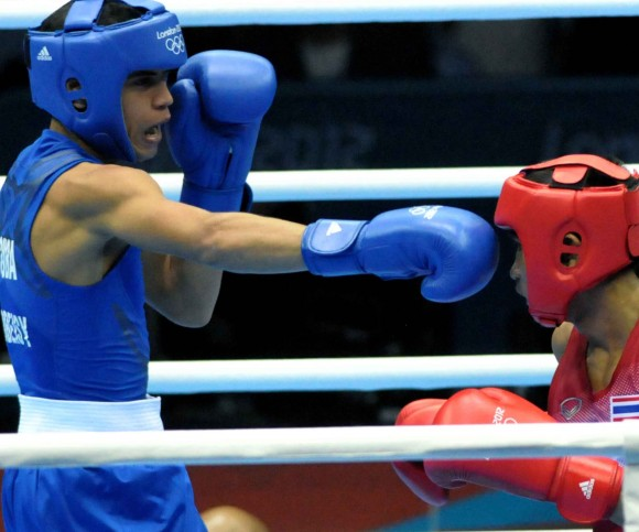 Robeisy Ramírez en combate. Foto: Marcelino Vázquez