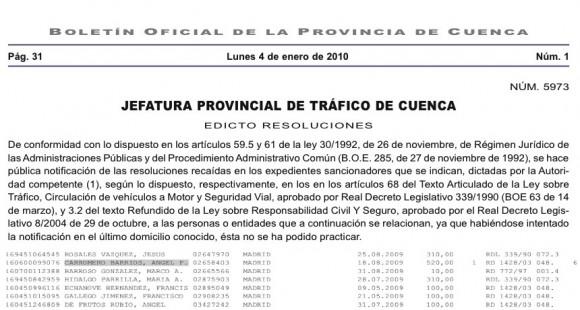 Carromero fue multado en espa a por conducir a exceso de - Jefatura provincial de trafico madrid ...
