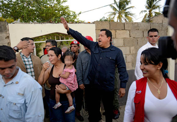 Chávez en Amuay