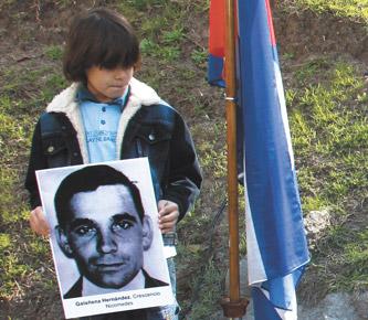 Crescencio Nicomedes Galañena Hernández fue una de las víctimas del terrorismo de Estado. Se comprobó que estuvo secuestrado en Orletti junto a otro funcionario de la embajada. Sus restos fueron hallados por un grupo de niños 36 años después. Foto: Página 12