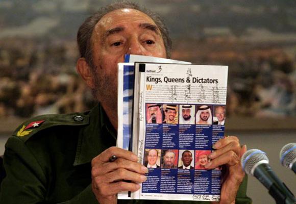 Fidel denuncia a la revista Forbes en Mesa Redonda. Foto: Ismael Francisco/Cubadebate.