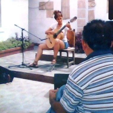Dioscórides observa la interpretación de Rosa Matos. Foto: Marta Valdés