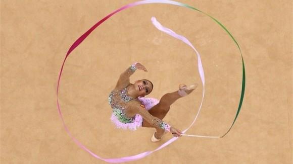 Campeona olímpica Evgeniya Kanaeva.