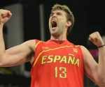 El portentoso Marc Gasol lideró a España con 14 puntos