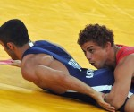 Balart (de rojo) cayó en su segundo combate. Foto: Ricardo López Hevia.