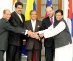 Troika de la CELAC con máximas autoridades indias. Fuente: Telesur