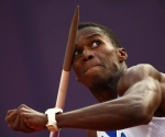 Leonel Suárez en la prueba de la jabalina del Decatlón de los JJOO de Londres 2012. Foto: Reuters