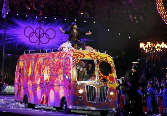 Presentación de Russell Brand. Foto: Reuters