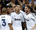 Real Madrid celebra el gol de Cristiano