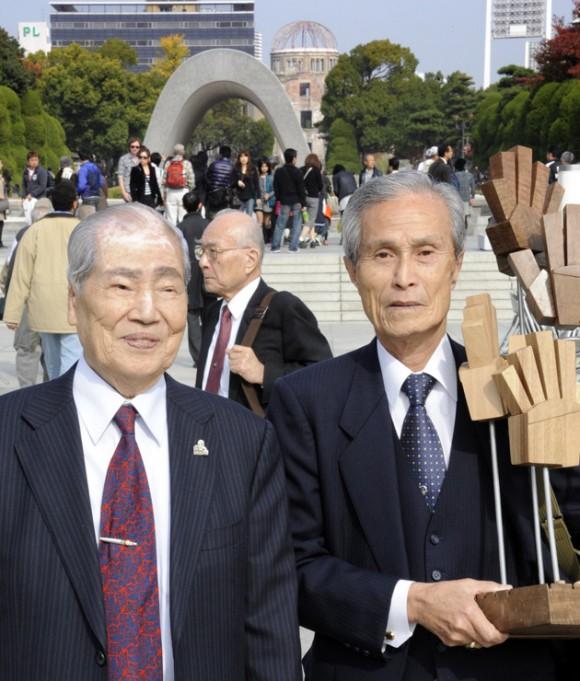 Sobrevivientes de Hiroshima y Nagasaki. Foto: YOSHIKAZU TSUNO / AFP