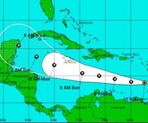 Tormenta tropical Ernesto continuará en el Caribe con poco cambio