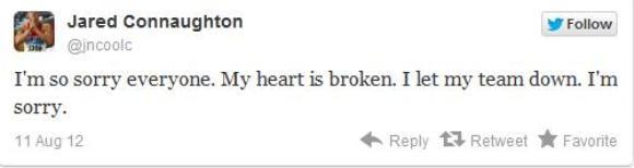 Tweet publicado por James Connaughton tras la descalificación de Canadá