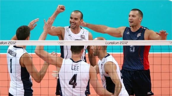 EEUU derrotó a Brasil en el voley masculino por 3 sets a uno