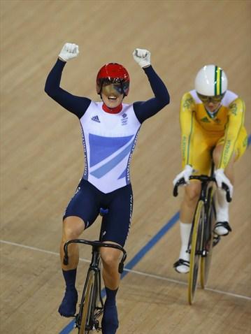 Victoria Pendlenton de Gran Bretaña, Campeona Olímpica del Keirin