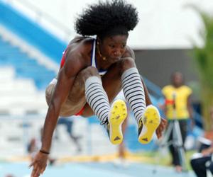 Yargelis Savigne, campeona mundial de triple salto. XXII Campeonato Centroamericano y del Caribe de Atletismo. Foto: Roberto Meriño.