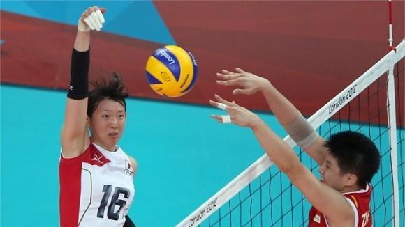 Japón venció  China en cuartos de  final del Voleibol femenino