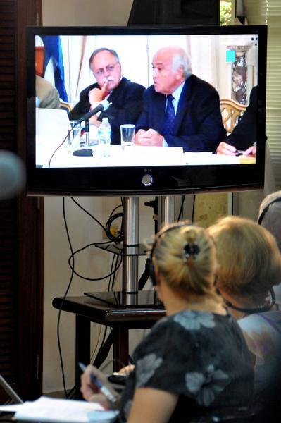 José Pertierra y Garbus, durante la videoconferencia. Foto: Marcelino VAZQUEZ HERNANDEZ