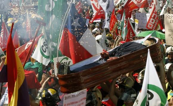 Decenas de miles marcharon por las calles de Madrid