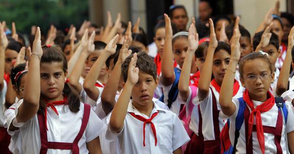 Matutino, seremos como el Che. Foto: Ismael Francisco/Cubadebate