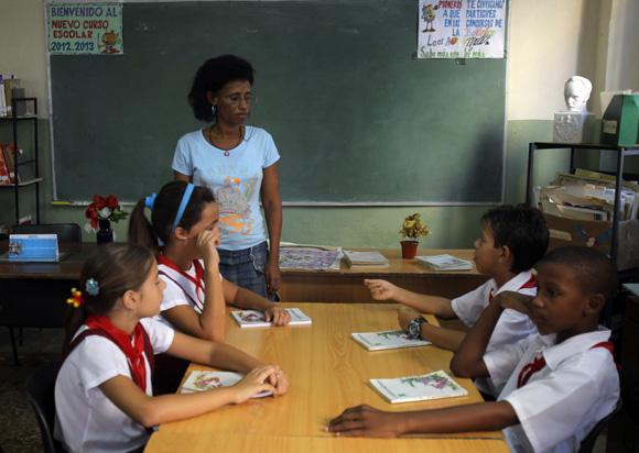 La Boblioteca, lugar sagrado del estudiante. Foto: Ismael Francisco/Cubadebate