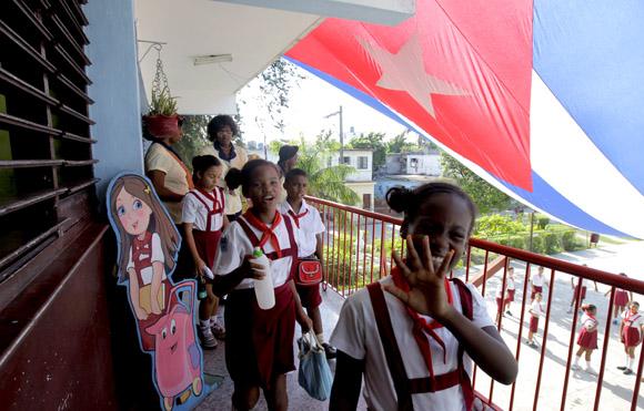 Saliendo al receso. Foto: Ismael Francisco/Cubadebate