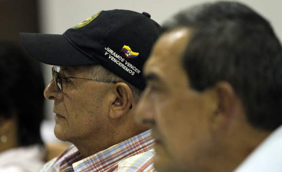 Ricardo Tellez, junto a Mauricio Jaramillo. Foto: Ismael Francisco/Cubadebate