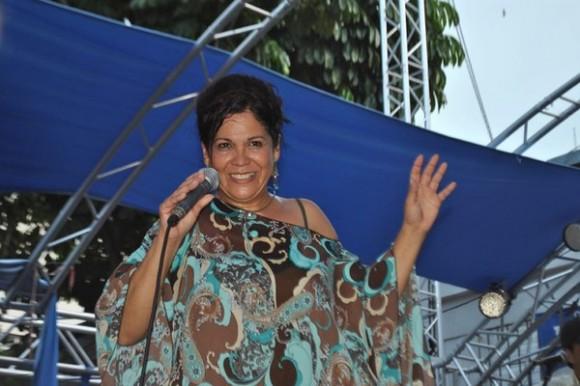 Ivette Cepeda en el Pabellón Cuba. Foto: Suena cubano (web)