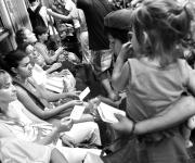 Niños en el subte /Foto: Kaloian Santos Cabrera