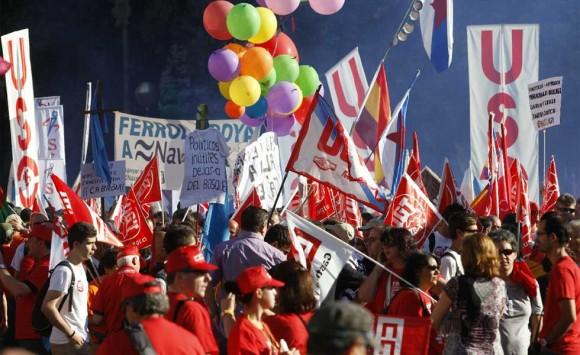 La marcha por las calles de Madrid