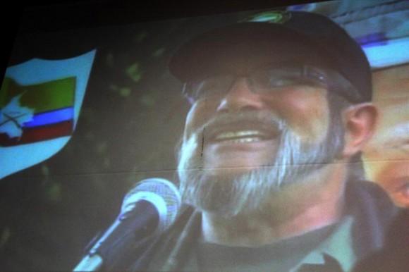 Timochenko en el video divulgado en La Habana. Foto: EFE