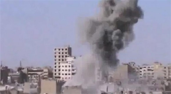Atentado en Damasco. Foto: EFE / Shaam News network (SNN)
