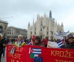 La Plaza del Duomo de Milano fue el sitio escogido para concentrarse