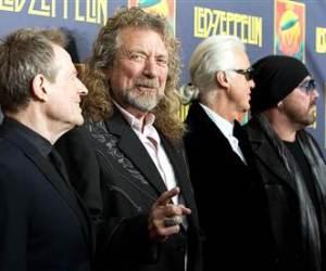 Led Zeppelin, de izquierda a derecha: John Paul Jones, Robert Plant, Jimmy Page y Jason