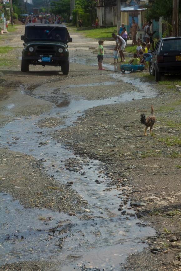 Desagüe en el Condado. Foto: Jorge Ramírez.