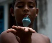 Los trompos, una pasión. Foto: Jorge Ramírez.