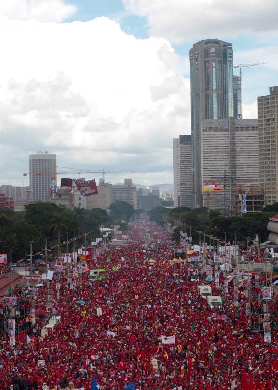 Cierre de campaña del presidente Hugo Chávez. FOTO: COMANDO CARABOBO