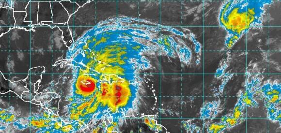 Última imagen, captada a las 17:00 horas, Instituto de Meteorología.