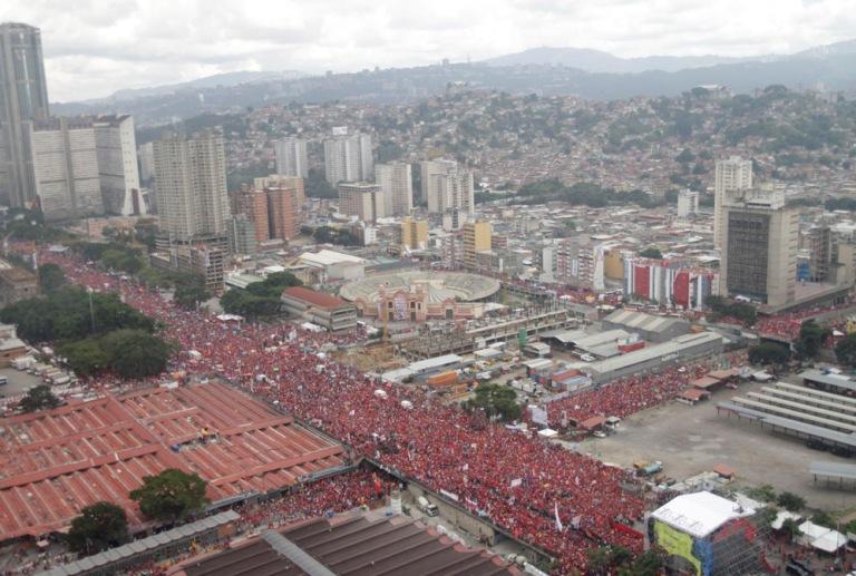 Cierre de campaña del presidente Hugo Chávez. FOTO: AVN
