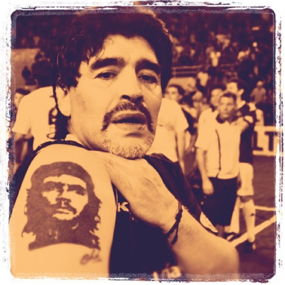 Maradona en Mar del Plata, enero 2011. Foto: Kaloian