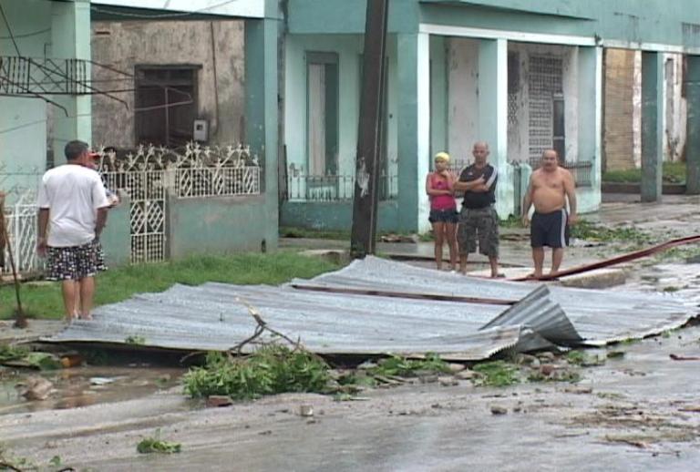Arrasador paso de huracán Sandy por Santiago de Cuba