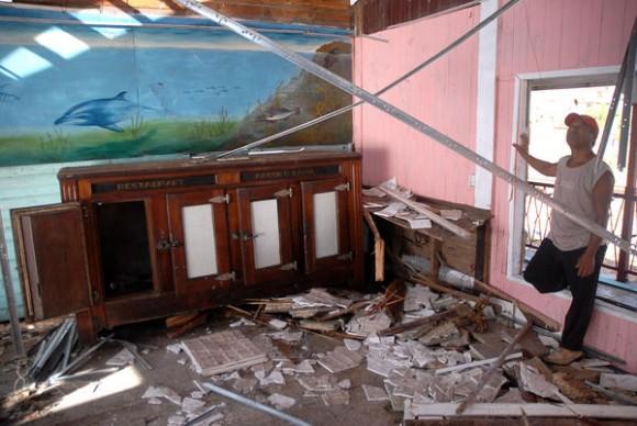 Daños ocasionados por el azote del huracán Sandy al municipio de Antilla, provincia de Holguín, Cuba, el 26 de octubre de 2012. AIN FOTO/Juan Pablo CARRERAS