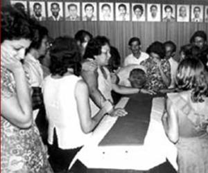 Entierro de las víctimas del crimen de Barbados. Foto Archivo