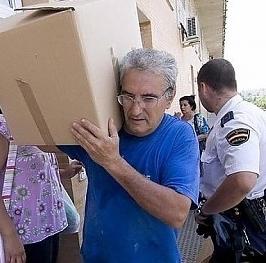 Desalojo en España