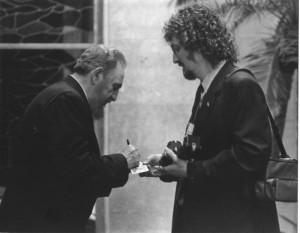 Fidel Castro y Diego M. Vidal. Foto: Liborio Noval