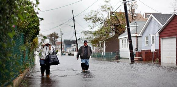 Inundaciones en Queens. Foto: Allison Joyce.