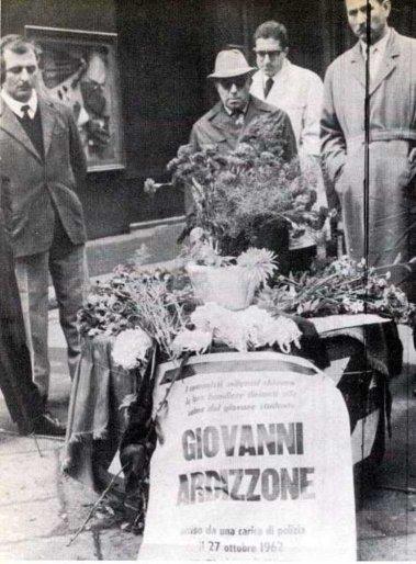Funeral de Ardizzone el 29 de octubre de 1962
