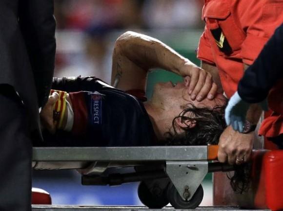 Puyol lesionado
