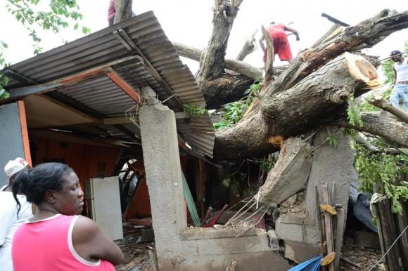 Sandy en Haití.