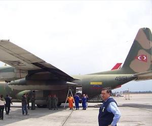 Avión Hércules de la Fuerza Armada Bolivariana. Foto: Aporrea.org