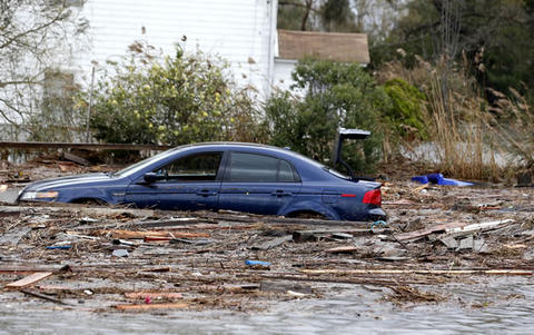 Sandy en Estados Unidos. Foto: AP